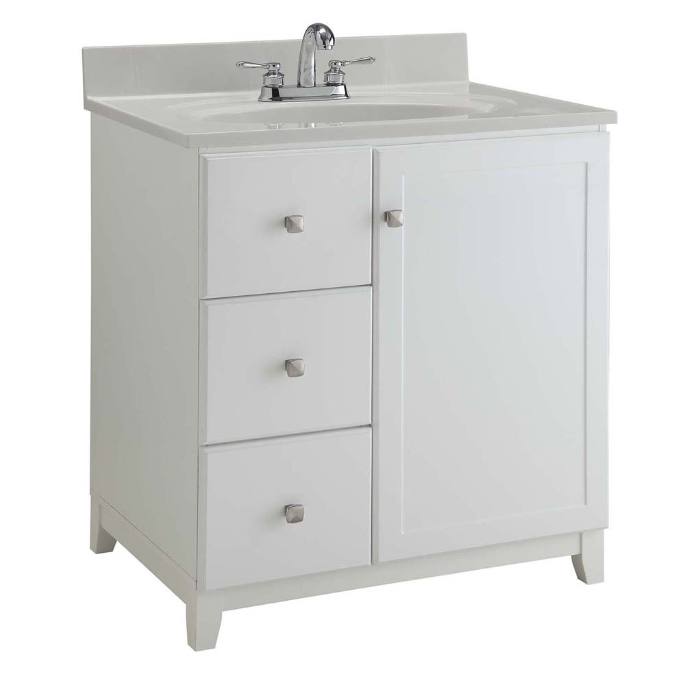 Design House 547158 Furniture-Style Vanity Cabinet, 36-inches by 21-inches, Semi-Gloss White