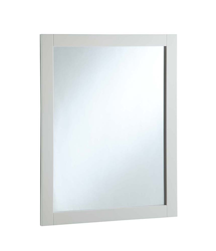 Design House 547216 24-inch by 30-inch Vanity Mirror, Semi-Gloss White