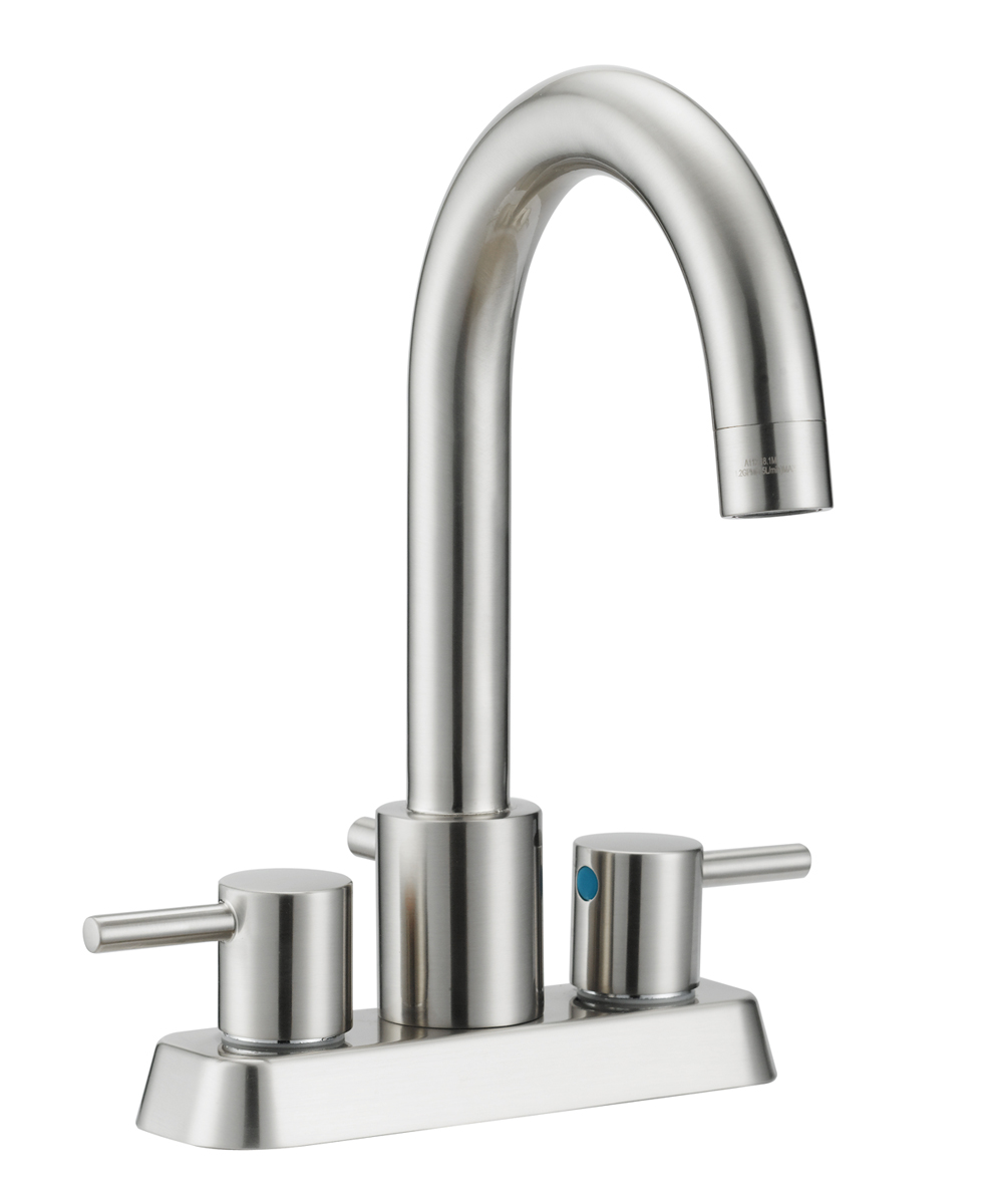 Eastport Centerset Bathroom Faucet, Satin Nickel