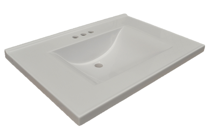 Design House 553933 Contempo Vanity Top, 25-inches by 22-inches, Solid White
