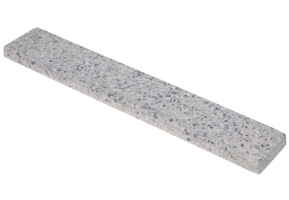 "Design House 554238 Cultured Marble Wave Universal Side Splash 22"", Moonscape Grey"