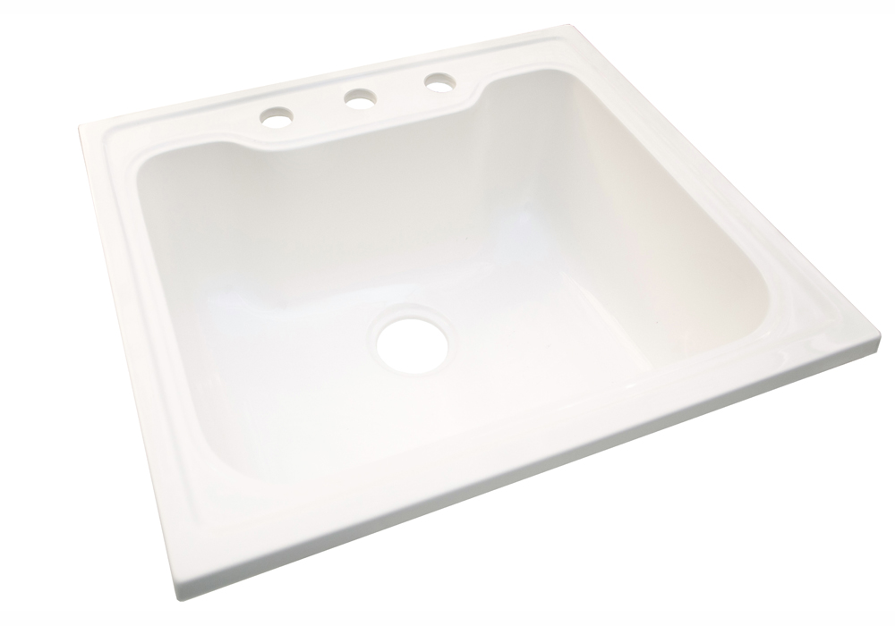 Design House 557686 Laundry Sink, 25-inches by 22-inches, Solid White