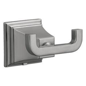 Torino Double Robe Hook, Satin Nickel