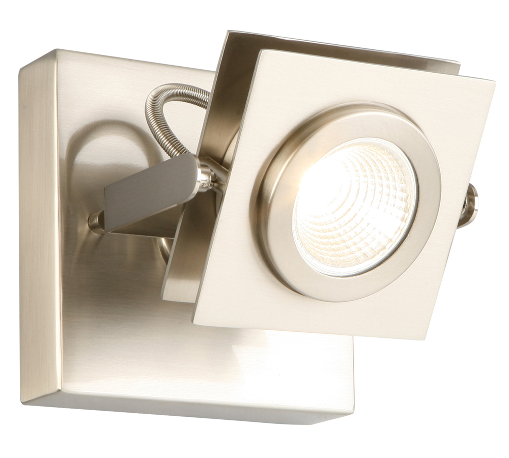 Design House 577809 Otero Single-Light Direct Track Ceiling or Wall Light, Brushed Nickel