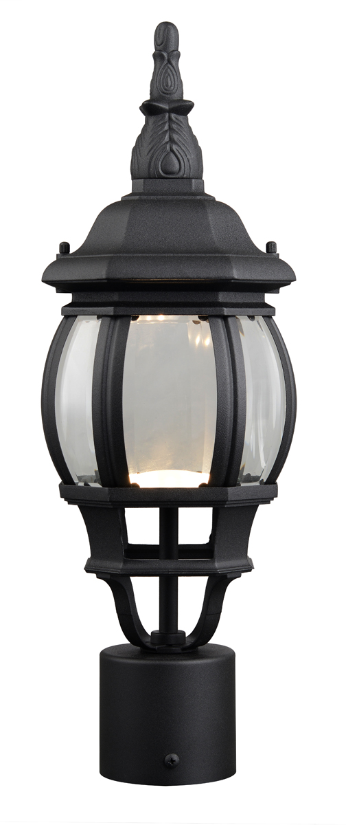 Canterbury II LED Outdoor Post Top Light, Black
