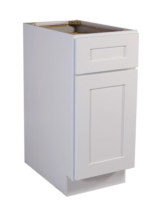 "Brookings 12"" Fully Assembled Kitchen Base Cabinet, White Shaker"