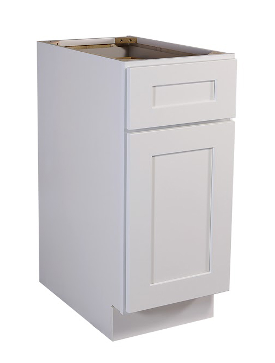 "Brookings 18"" Fully Assembled Kitchen Base Cabinet, White Shaker"