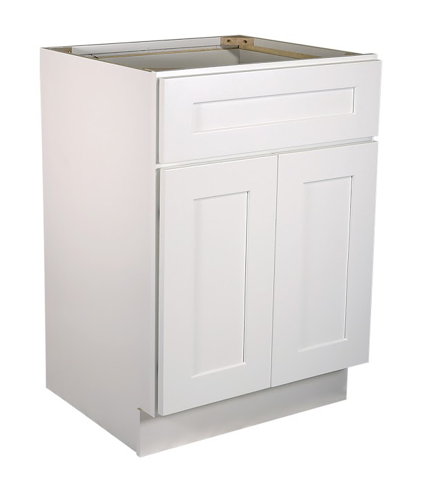 "Brookings 21"" Fully Assembled Kitchen Base Cabinet, White Shaker"