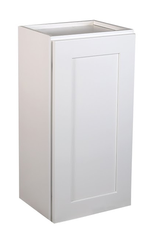 "Brookings 15"" Fully Assembled Kitchen Wall Cabinet, White Shaker"