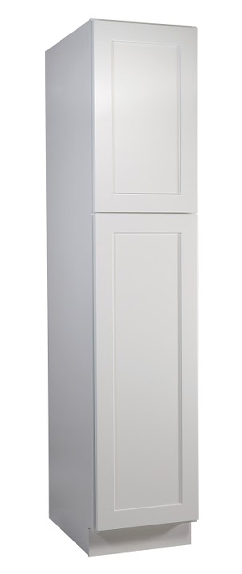 "Brookings 18"" Fully Assembled Kitchen Pantry Cabinet, White Shaker"