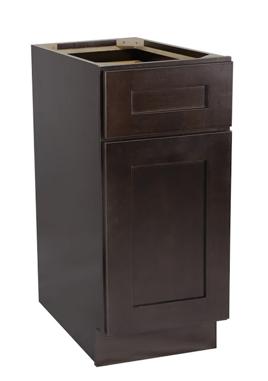 "Brookings 12"" Fully Assembled Kitchen Base Cabinet, Espresso Shaker"