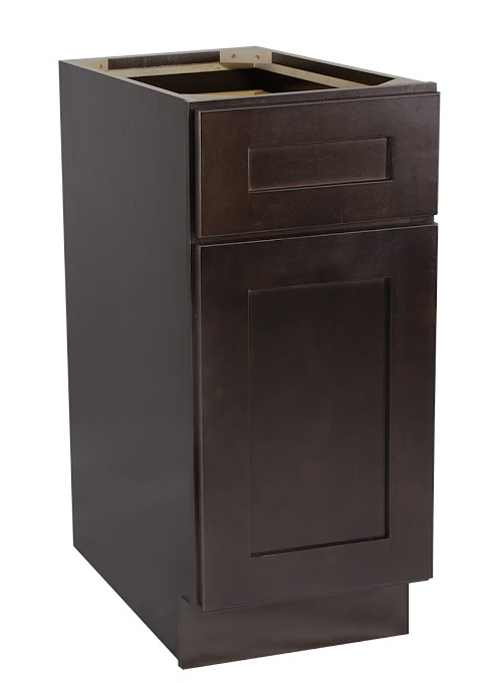 "Brookings 15"" Fully Assembled Kitchen Base Cabinet, Espresso Shaker"