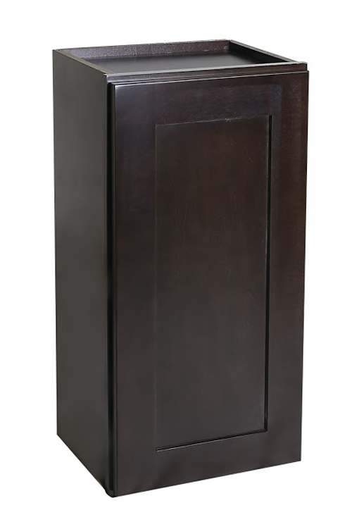 "Brookings 12"" Fully Assembled Kitchen Wall Cabinet, Espresso Shaker"