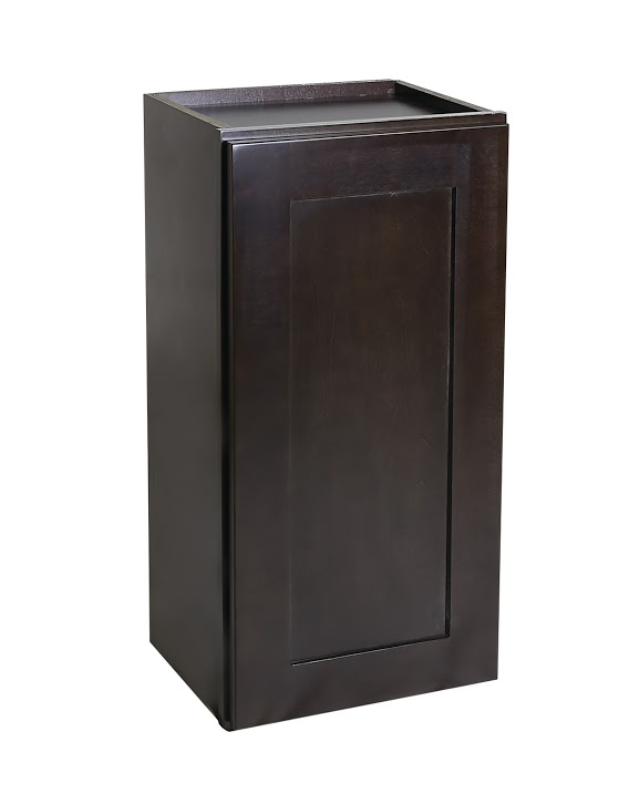 "Brookings 15"" Fully Assembled Kitchen Wall Cabinet, Espresso Shaker"