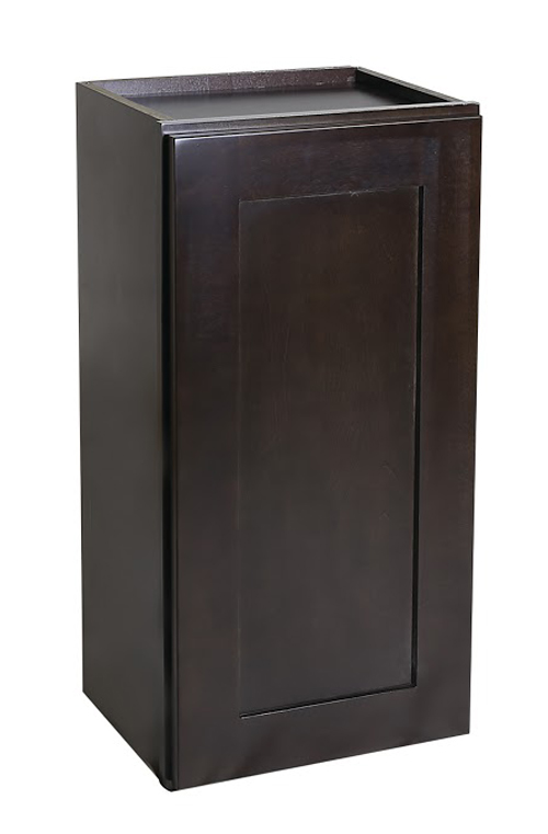 "Brookings 18"" Fully Assembled Kitchen Wall Cabinet, Espresso Shaker"