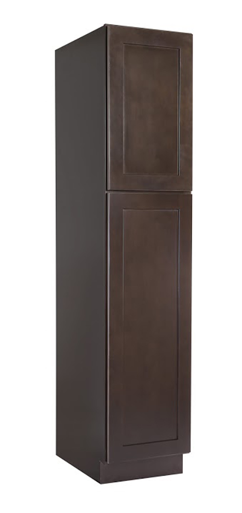 "Brookings 18"" Fully Assembled Kitchen Pantry Cabinet, Espresso Shaker"