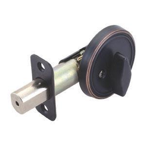 Single Sided Deadbolt, Adjustable Backset, Oil Rubbed Bronze