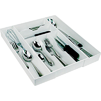 Dial 02506 Extra Long Cutlery Expand-A-Drawer, 18 in L x 9-1/2 in W x 2-1/4 in H, White