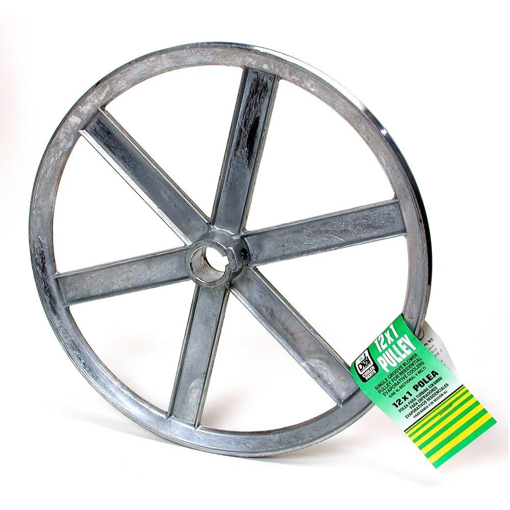 6338 12 IN. X1 IN. ZINC BLOWER PULLEY