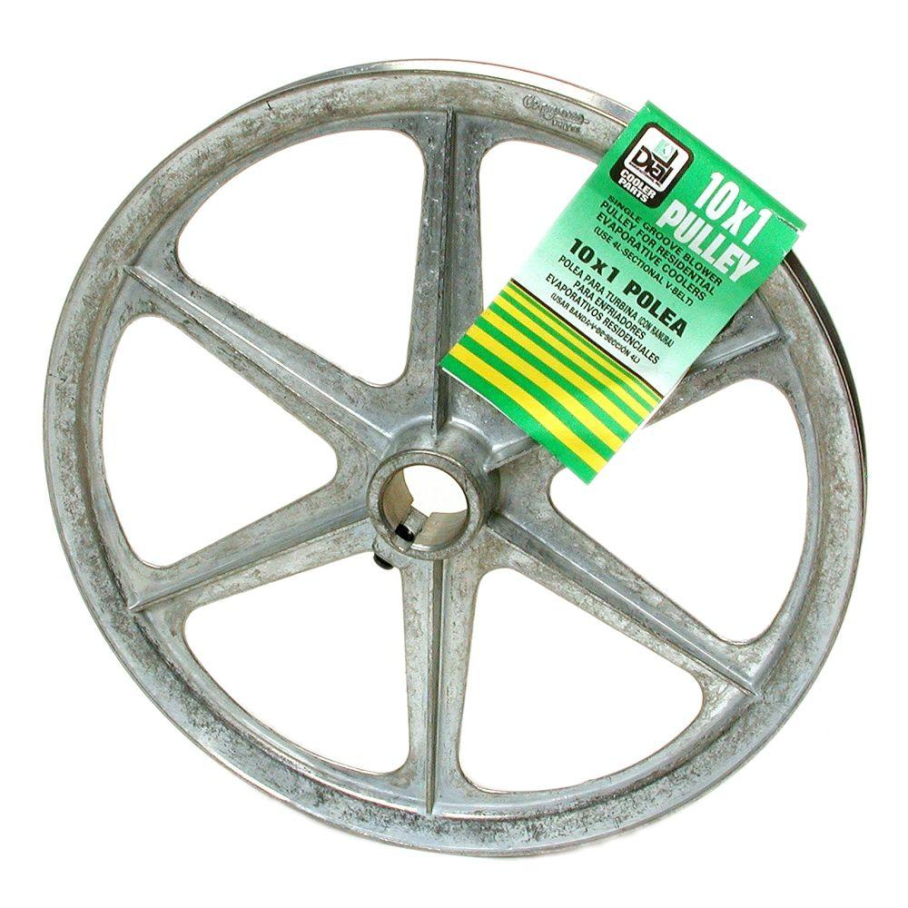 6324 10 IN. X1 IN. ZINC BLOWER PULLEY