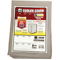 Weatherguard 8912 Down Draft Evaporative Cooler Cover, 28 in H x 28 in W x 34 in D, Polyester