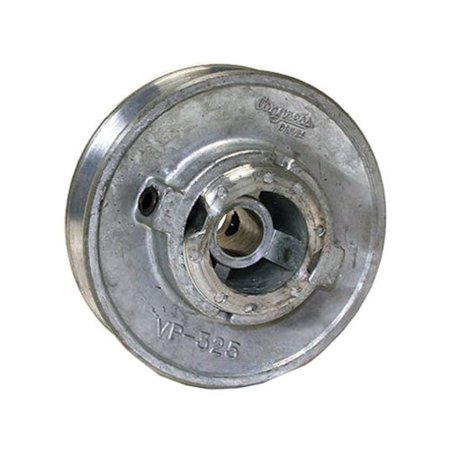 Dial 6124 Variable Motor Pulley, 3-1/4 in Dia X 1/2 in Bore