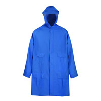 PARKA RAIN GREEN/BLUE LARGE