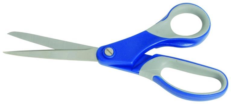 MintCraft JL-SR-07 2-Tone Scissor, 7 in L, Stainless Steel