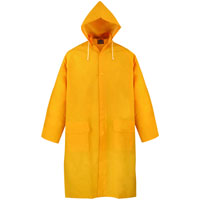 COAT RAIN W/HOOD YELLOW XXLRG