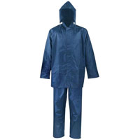 RAINSUIT POLYESTER BLUE 2PC L
