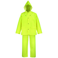 RAINSUIT 3 Piece POLYESTER YELLOW MED
