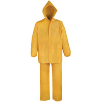 RAINSUIT PVC 2PC YELLOW XXXL