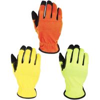 GLOVES WORK LEATHER PALM 3PK