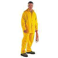 RAINSUIT PVC/POLY 3PC YLW XXL