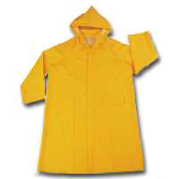 COAT RAIN W/HOOD YELLOW XLARGE