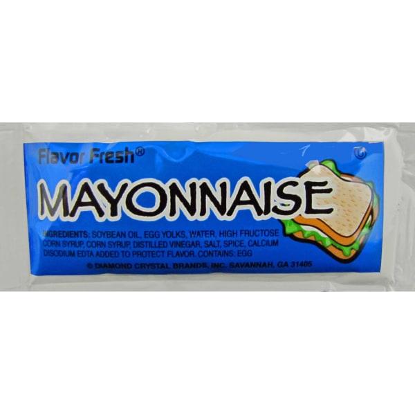 Condiment Packets, Mayonnaise, 0.32 oz Packet, 200/Carton