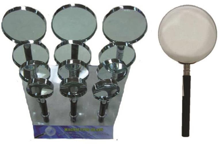 Diamond MA-01 Assorted Magnifying Glass, 5X, Glass