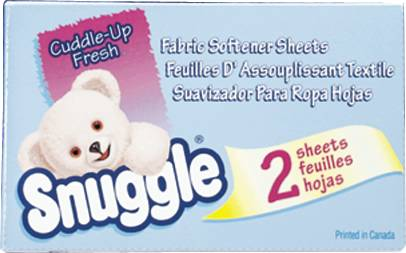 SNUGGLE DRYER SHEETS FOR VENDING
