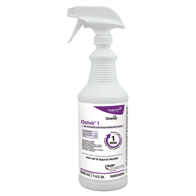 Oxivir 1 RTU Disinfectant Cleaner, 32 oz Spray Bottle, 12/Carton