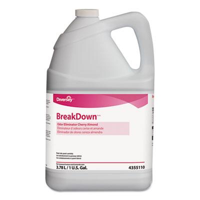 Odor Eliminator, Cherry Almond Scent, Liquid, 1 gal. Bottle, 4/Carton