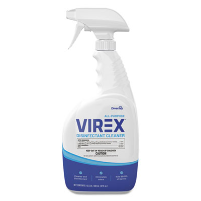 Virex All-Purpose Disinfectant Cleaner, Citrus Scent, 32 oz Spray Bottle, 8/CT