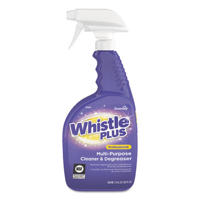 Whistle Plus Multi-Purpose Cleaner and Degreaser, Citrus, 32 oz  Bottle, 8/CT