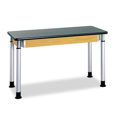 Adjustable-Height Table, Rectangular, 60w x 24d x 42h, Black