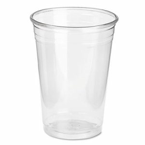 Clear Plastic PETE Cups, Cold, 10oz, WiseSize, 25/Pack, 20 Packs/Carton