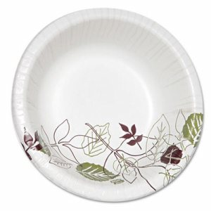 Pathways Heavyweight Paper Bowls, 20oz, Green/Burgundy, 500/Carton