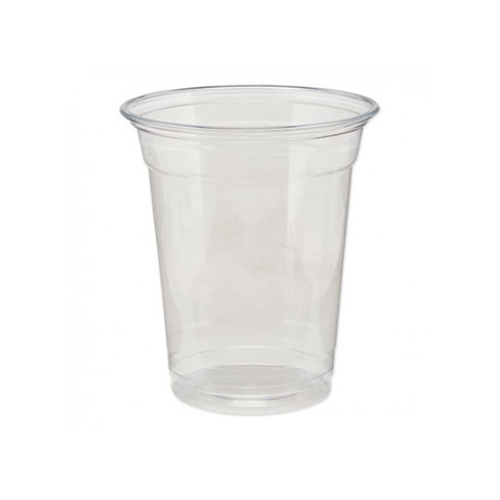 Clear Plastic PETE Cups, Cold, 12oz, 25/Sleeve, 20 Sleeves/Carton