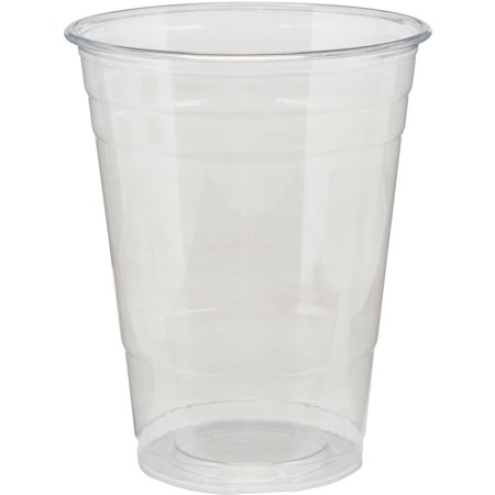Clear Plastic PETE Cups, Cold, 16oz, 25/Sleeve, 20 Sleeves/Carton