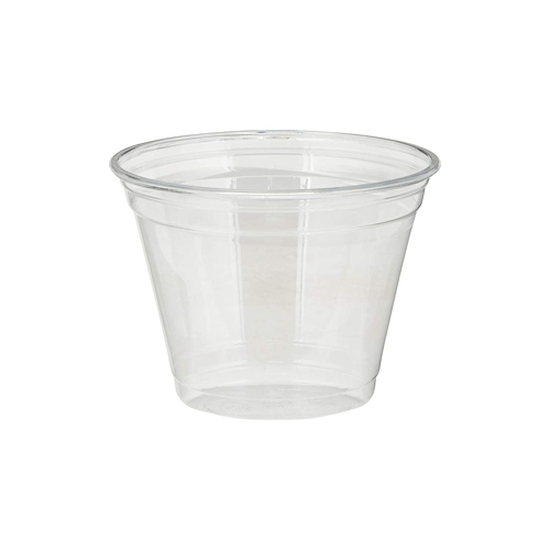 Clear Plastic PETE Cups, Cold, 9oz, Squat, 50/Sleeve, 20 Sleeves/Carton