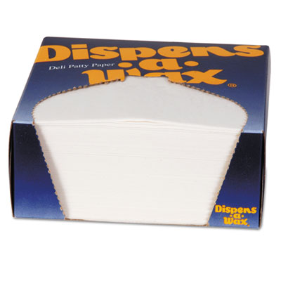 Dispens-A-Wax Waxed Deli Patty Paper, 4 3/4 x 5, White, 1000/Box