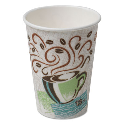PerfecTouch Paper Hot Cups, 12 oz, Coffee Haze, 160/Pack